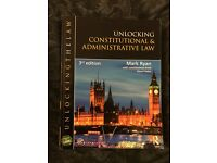 Unlocking Constitutional and Administrative Law (Unlocking the Law) 3rd edition - 2014 - Mark Ryan