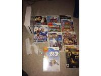 Nintendo white Wii console and games