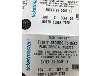 Thirty seconds to Mars x2 seated tickets Row C