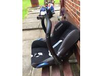 Maxi Cosi baby- 1 year car seat with unused adapter for and chassis.
