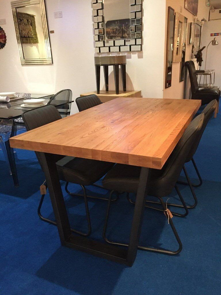 Calia Dining Table - 6 Seater C/w 4