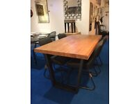 Calia Dining Table - 6 Seater C/w 4 Dark Grey Dining Chairs