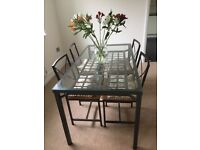 2 x Glass Dining Tables & 4 Chairs
