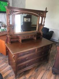 Mahogany dressing table circa 1900