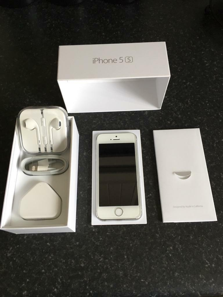 Apple iPhone 5s in silver 16gb unlocked in great conditionin Newtownabbey, County AntrimGumtree - Apple iPhone 5s 16gb in silver unlocked to any network in great condition this comes with original box sim pin genuine apple unused earphones also genuine apple charging plug and new charging lead I have also fitted this with a new tempered glass...