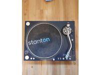 Stanton ST.150 Direct Drive DJ Turntable Deck, PLUS Shure M44-7 Stylus (RRP £80)