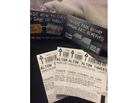 4 Alton Towers entry tickets