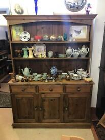 Waxed Pine Welsh Dresser