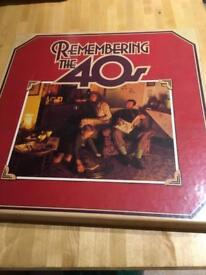 Vinyl LP boxed set Remembering the 40's NEW