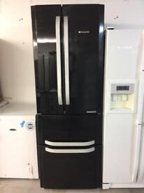 Hotpoint black good looking quadro frost free A-class fridge freezer