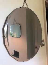 Vintage circular mirror