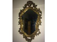 Splendid Antique Style French Rococo Ornate Wall Mirror Gilt Wood Frame