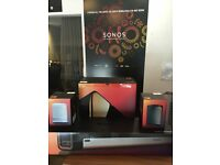 Sonos Complete 5.1 Surround system - Sonos Sub, Soundbar, 2 x Play 1 One