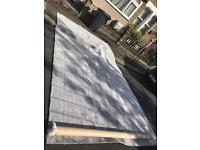 2.75x5m crushed velvet grey carpet