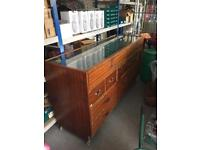 Glass top counter