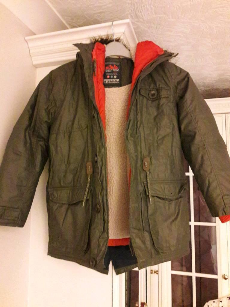 8dcfff7925fe Next West Peak Boys Parka Coat 2 in 1 Aged 9