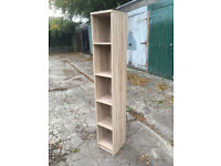 Furniture To Go 4 YOU Tall Narrow Bookcase with Melamine, 30 x 190 x 35 cm