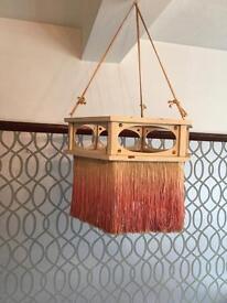 Vintage Decorona Wooden lamp shade