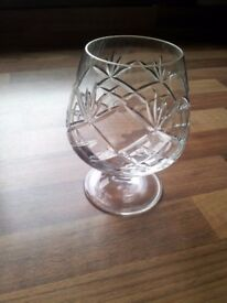 2 crystal whiskey glasses tumblers. new, never used