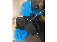 Blue silver cross wayfarer 3 in 1 travel system