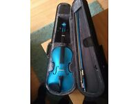 Blue Violin - Rainbow Fantasia 3/4 Size. Brand New Condition