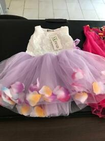 2 baby dresses size 12 months