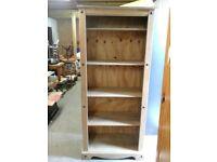 antique pine 6ft book case