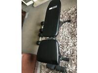 Weight bench and 18kg Hexagon Dumbbells for sale