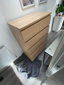 Chest of drawers (IKEA MALM, 6 drawers)