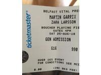 2 x Martin Garrix , Zara Larsson Vital Tickets