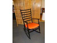 Vintage 1970's ladder back Rocking Chair