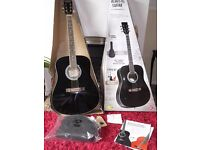 Acoustic Guitar - 5 Piece - Boxed with Instructions & CD to Learn - VGC.