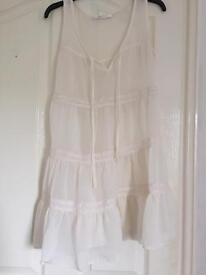 Beautiful cream chiffon dress/ top