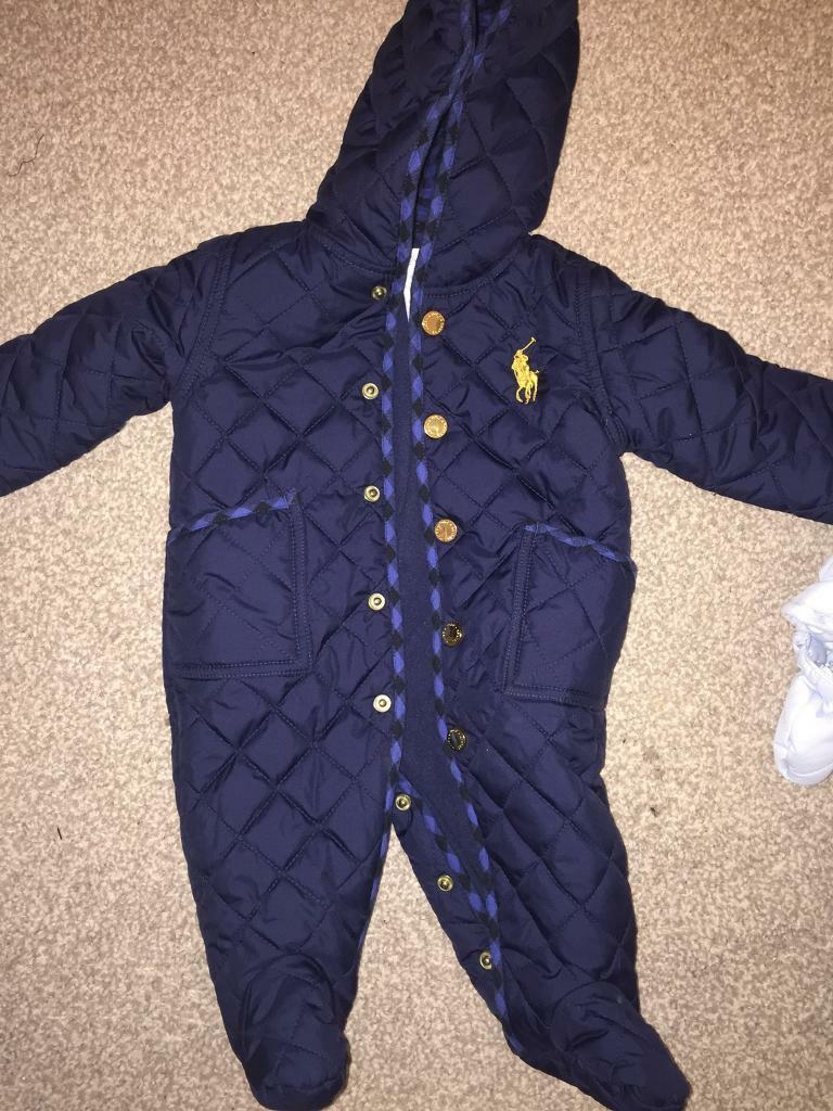 2417cd60f668 Up to 3 months old snow suits. One is genuine Ralph Lauren