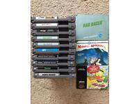 10 Nes Nintendo games & 3 booklets