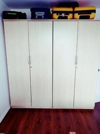Wooden Heavy duty cupboard x 2