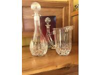 RCR Opera crystal wine whisky decanter and jug
