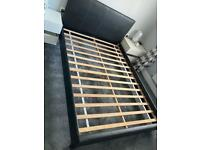 Double bed- faux leather