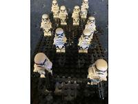Star Wars 10 Stormtrooper Army Mini Figures