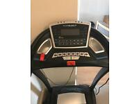 Rodger black treadmill with built in speakers