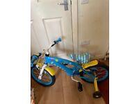 """Boys 16"""" minion bike"""