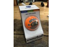 Blue Snowball USB Microphone in Limited Edition Orange colour - fully boxed like new condition!