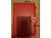 Red PU Leather case for Kindle reader