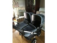 Bugaboo donkey twin pram with extras