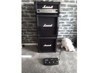 Marshall MG15HCFXMS Mini Stack Electric \guitar Amplifier With Foot Switch / Controller