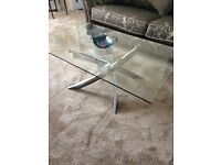 Glass & Chrome Coffee Table ( also Dining Table)