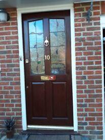 Front Door wood, dark colour, 16 years old. excellent condition.