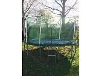 """11x12 ft """"Jump For Fun©"""" trampoline."""