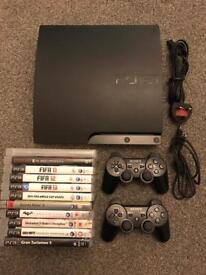 Playstation 3 320gb Slim Console plus 12 Games Bundle