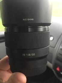 Sony FE 1.8 50mm lens E mount (a7 a7s)